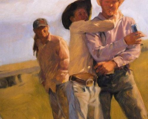 Art of Gabriel Lipper - National Cowboy - Bring em Home