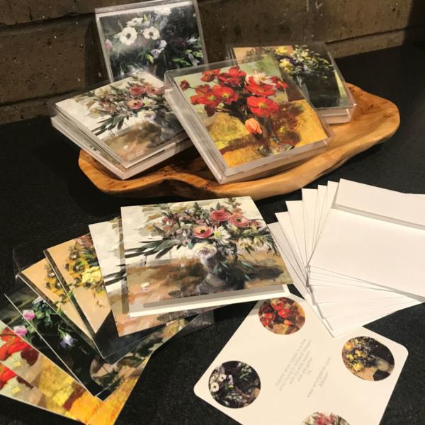 Lush Florals Cards Box Set Display